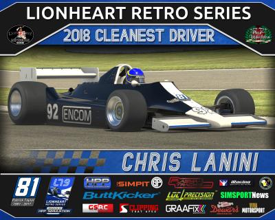 Cleanest Driver - 2018 Lionheart Retro Series Plaque
